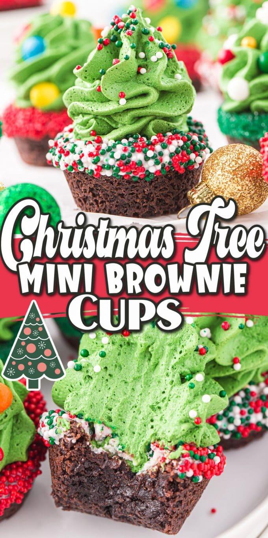 Christmas Tree Mini brownie Cups pinterest