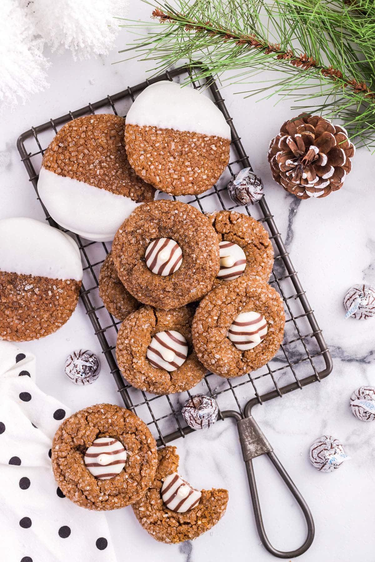 gingerbread kiss cookies