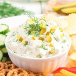 dill pickle dip featured image