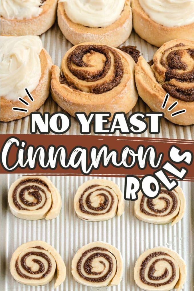 No Yeast Cinnamon Roll pinterest