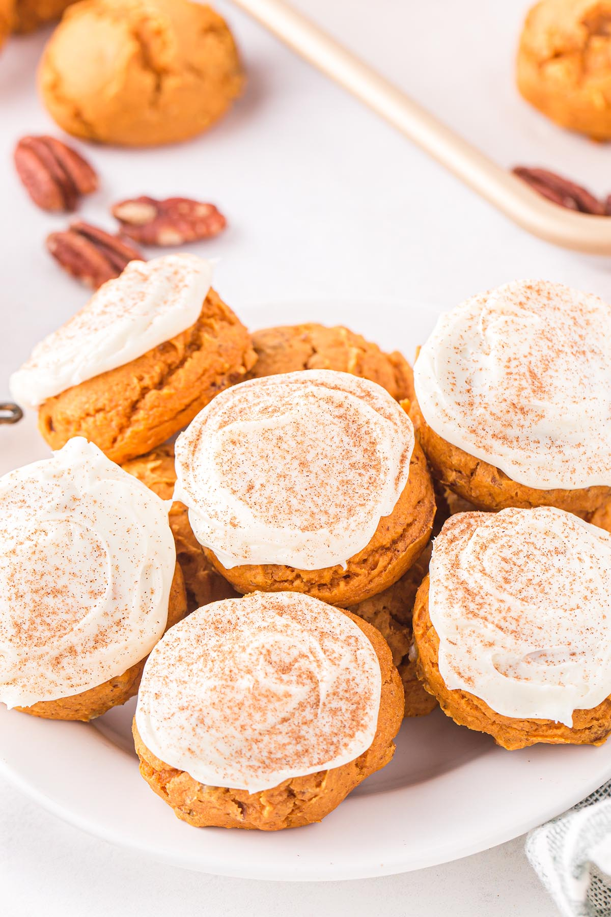 pumpkin cake mix cookies hero image