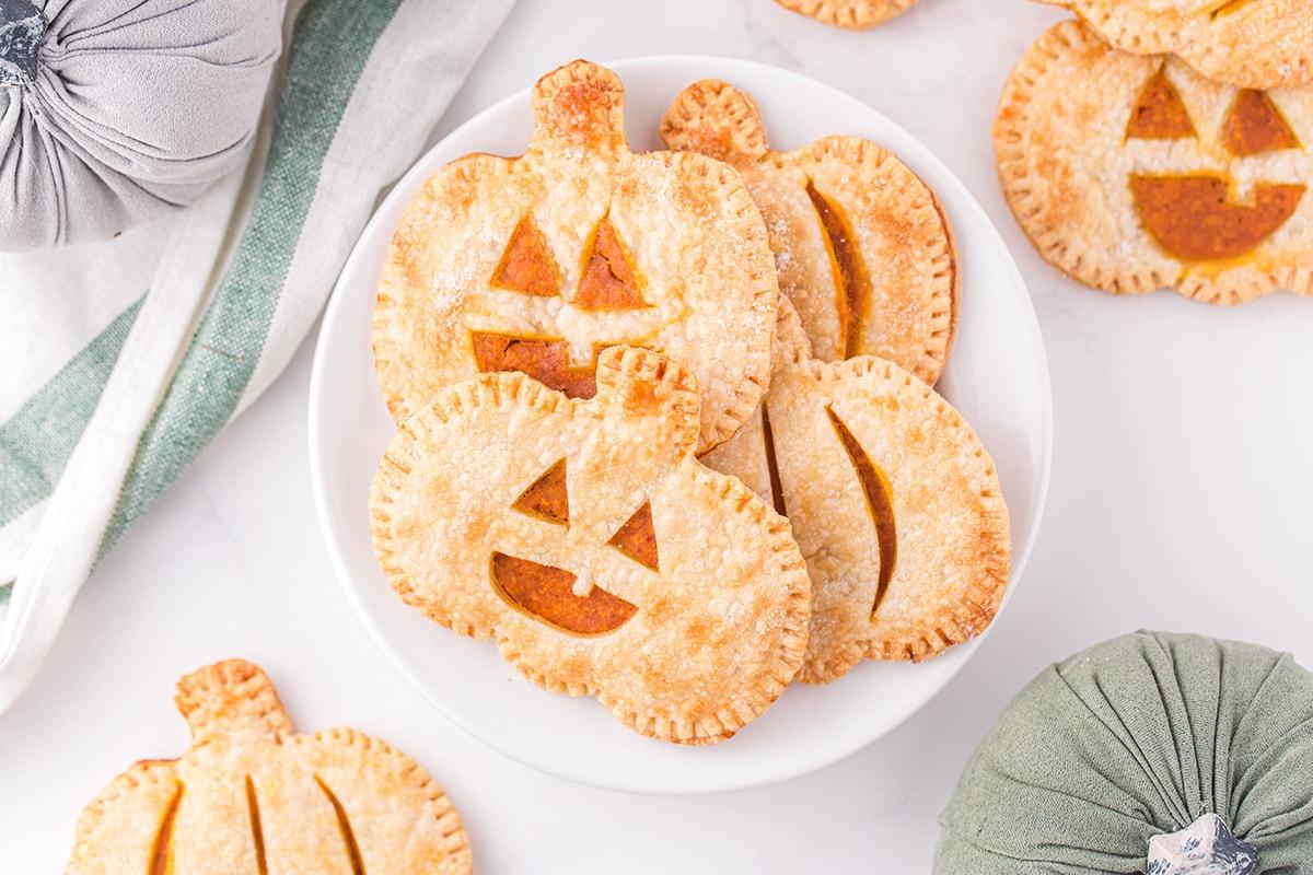 pumpkin hand pies on a plate