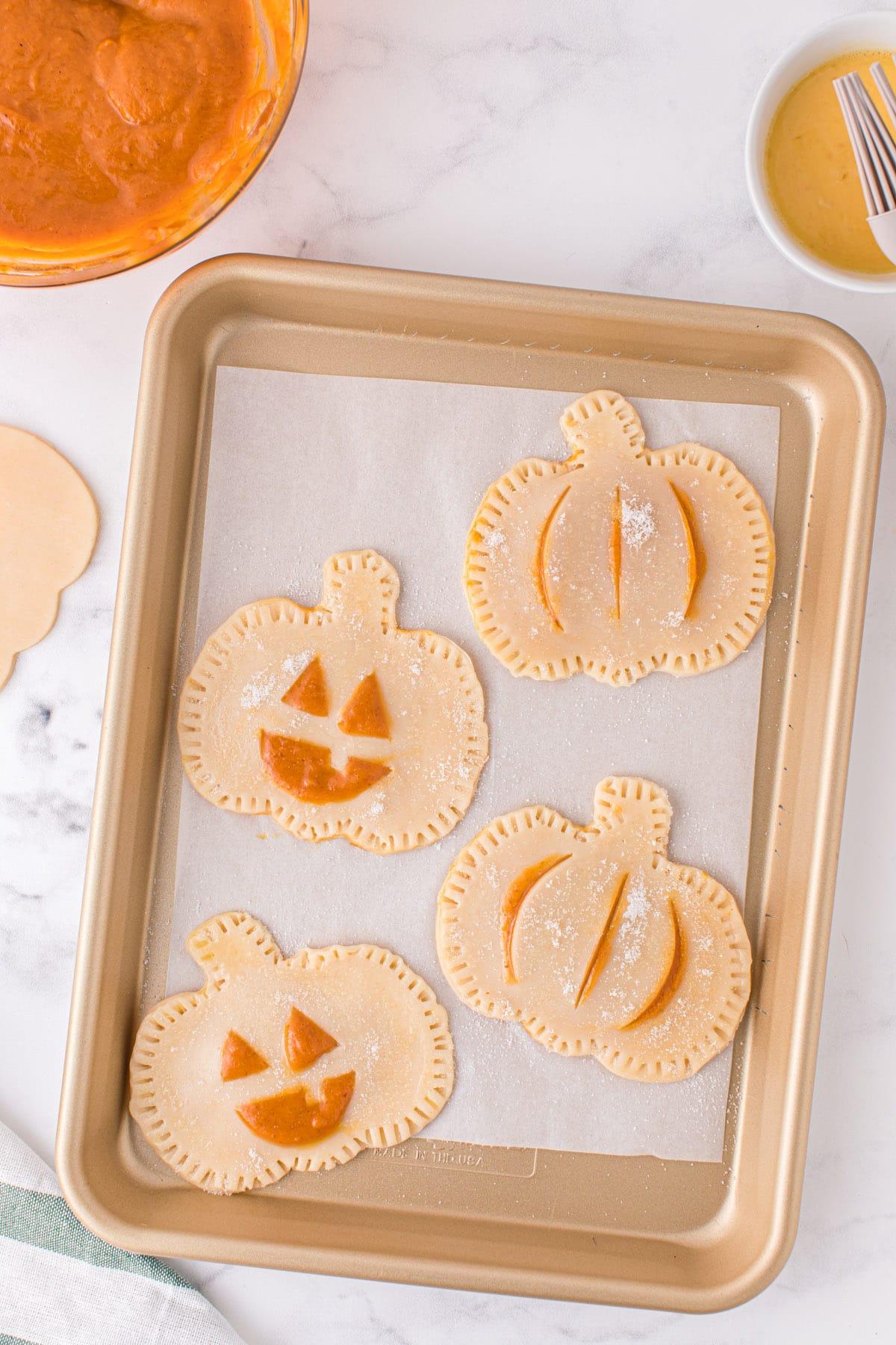 Top each half with another pumpkin piece
