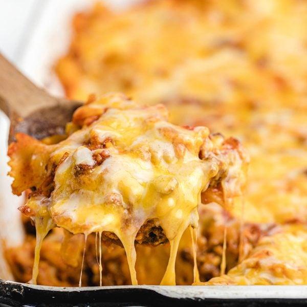 sloppy joe casserole featured image