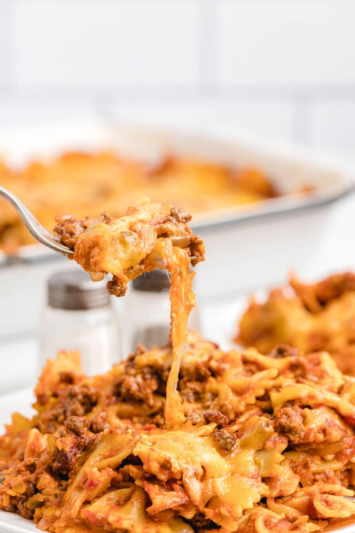 sloppy joe casserole on a plate