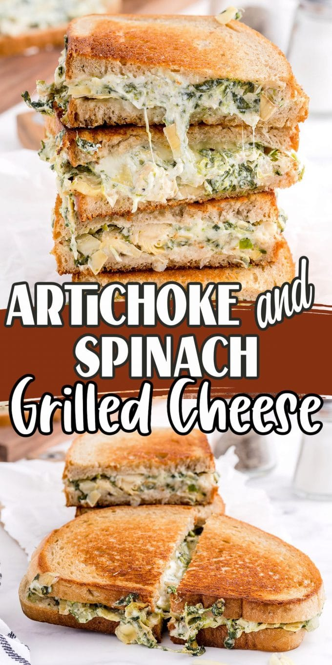 Spinach Artichoke Grilled Cheese pinterest