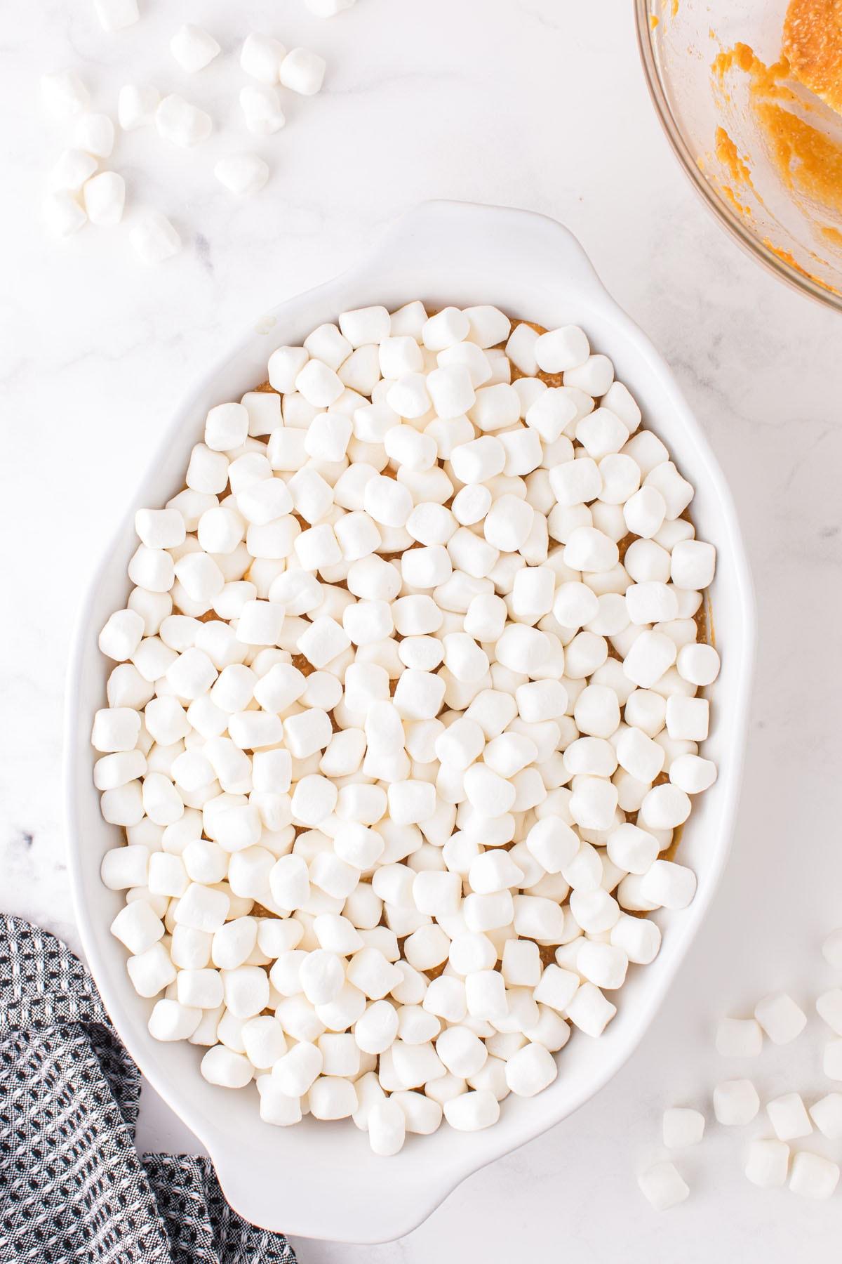 Sprinkle with mini marshmallows