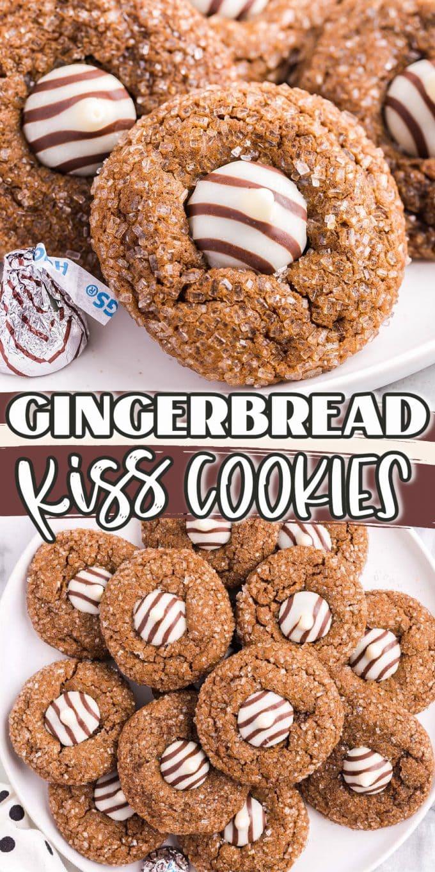 gingerbread kiss cookies pinterest