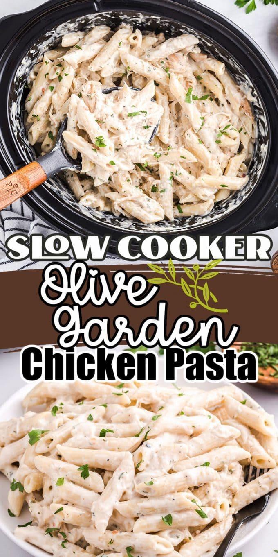slow cooker Olive Garden Chicken Alfredo Pasta