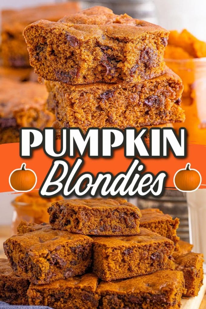 Pumpkin Blondies pinterest