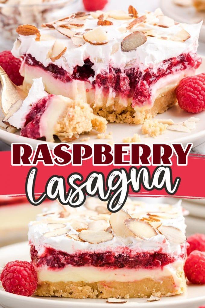 Raspberry Lasagna pinterest