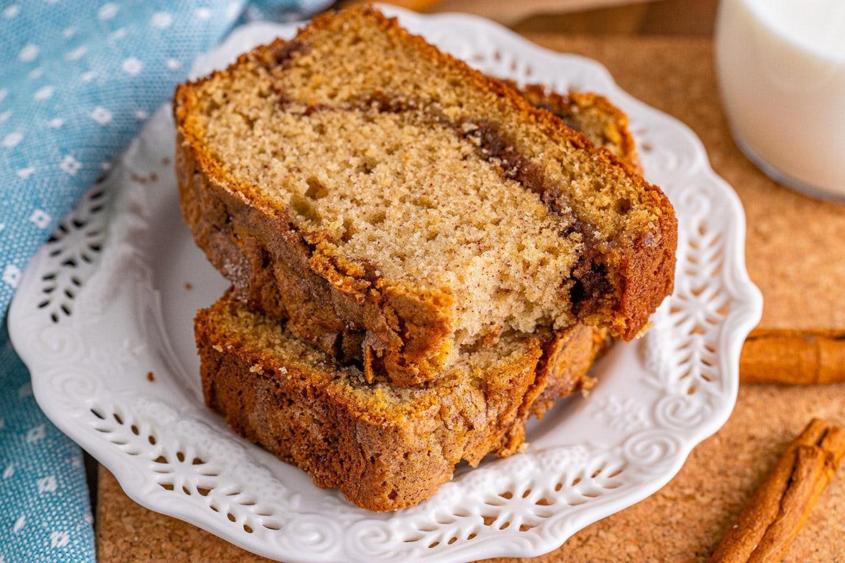 bitten cinnamon bread