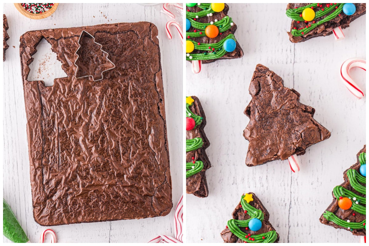 Cut brownies into triangles