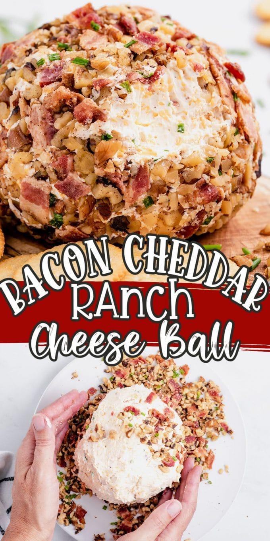 Bacon Cheddar Ranch Cheese Ball pinterest