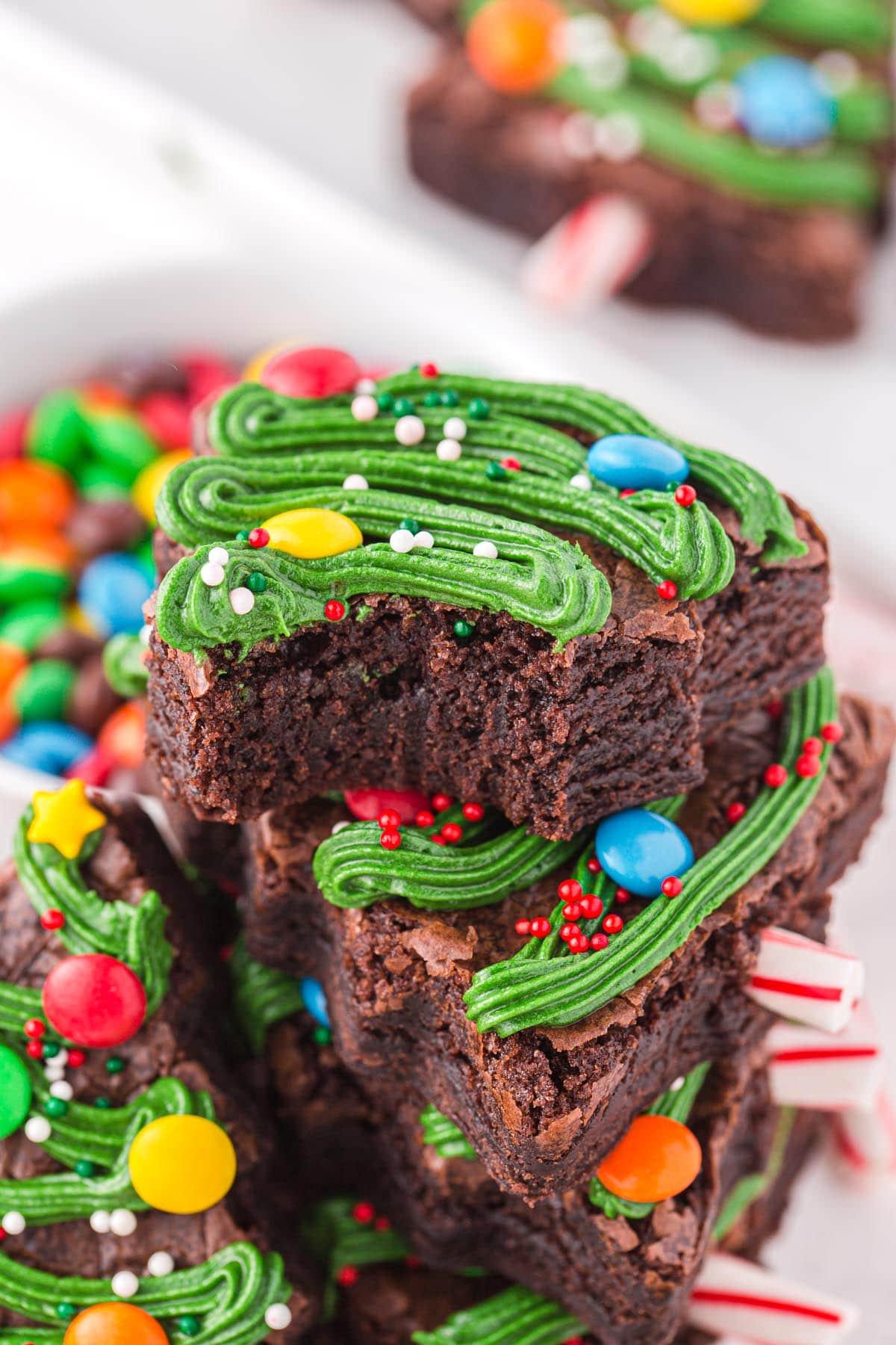 christmas tree brownies
