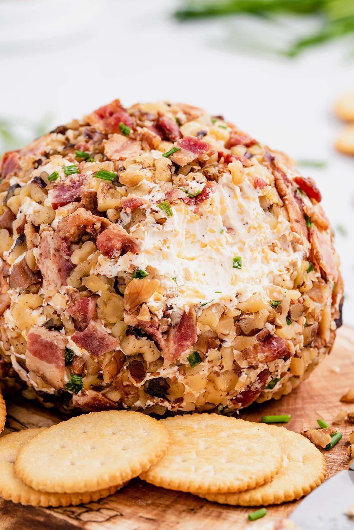 bacon cheddar ranch cheese ball hero