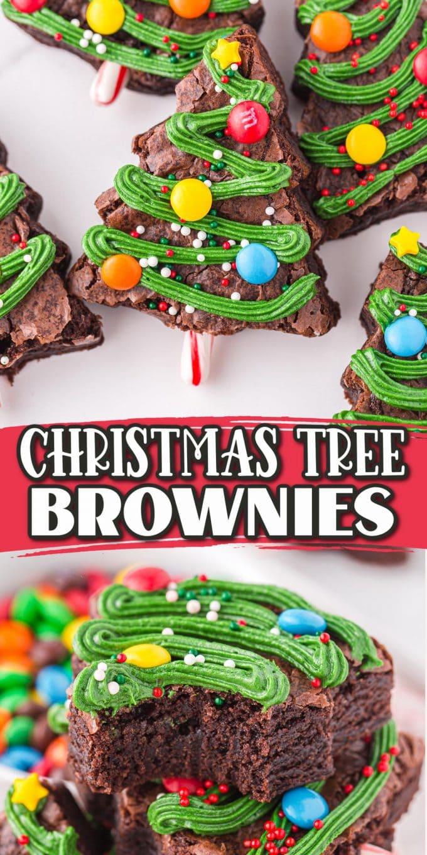 christmas tree brownies pinterest