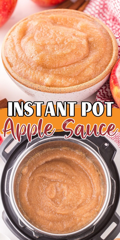 instant pot apple sauce pinterest