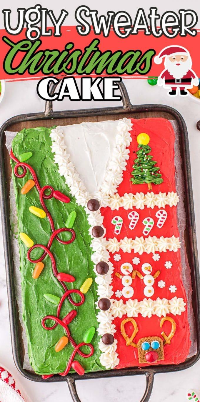 ugly sweater christmas cake pinterest